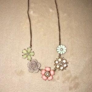 Lauren Conrad flower statement necklace